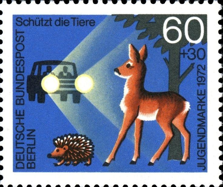 Deer Headlights Stamp