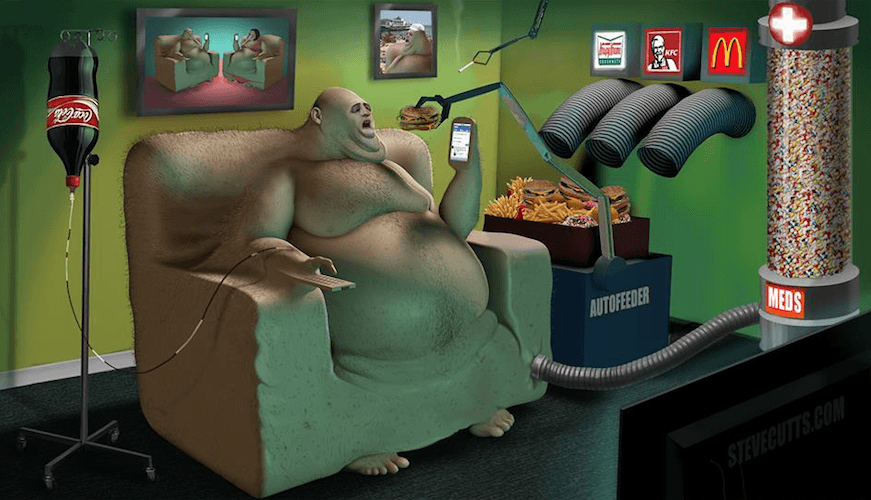 Evolution Steve Cutts